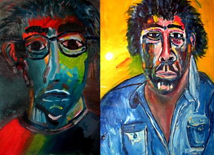 Joel Schapira: Two Self Portraits