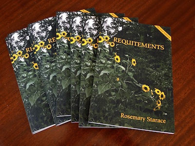 Cover of revised edition of Requitements, poems by Rosemary Starace
